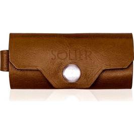 Kožená hnědá peněženka na klíče SOLIER (SA11 VINTAGE BROWN) Velikost: univerzální