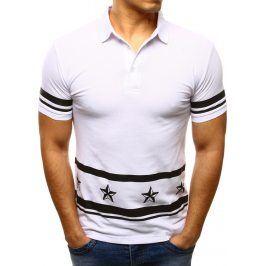 BASIC Bílé polo tričko (px0077) velikost: S, odstíny barev: bílá
