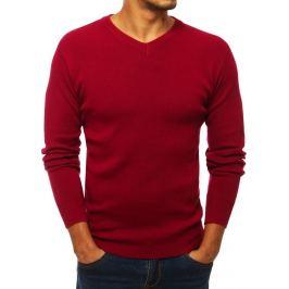 Červený basic svetr (wx1277) Velikost: M