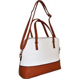 BASIC Hnědo-bílá shopper kabelka HBFB152 Velikost: univerzální