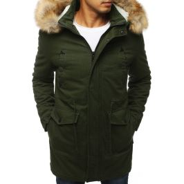 BASIC Zimní pánská zelená bunda (tx2900) Velikost: M