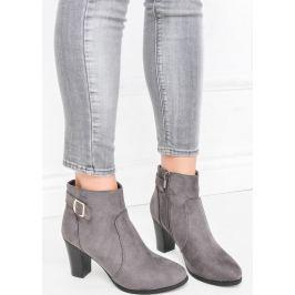 Kotníkové šedé boty - 304918 velikost: 39, odstíny barev: šedá