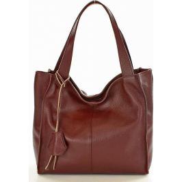 Bordová kožená kabelka MAZZINI - Portofino Max (s139b) Velikost: univerzální