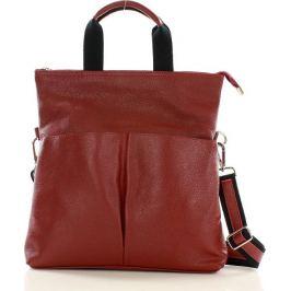 Moderní červená kožená taška Mazzini (s148d) Velikost: univerzální