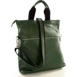 Moderní zelená kožená taška Mazzini (s148b) Velikost: univerzální