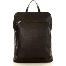 MAZZINI Černý kožený batoh (Pl49a) Velikost: univerzální