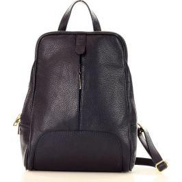 MAZZINI Tmavě modrý kožený batoh (pl30g) Velikost: univerzální