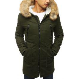 BASIC Zimní bunda s kapucí - zelená (tx2897) Velikost: L