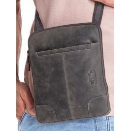 ALWAYS WILD Černá kožená pánská taška 014-TGH BLACK Velikost: univerzální