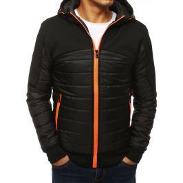 BASIC Černá bunda se oranžovým zipem (tx2963) Velikost: M