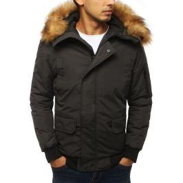 BASIC Pánská zimní bunda - antracitová (tx2968) Velikost: S