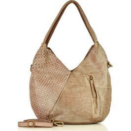 MARCO MAZZINI Khaki kožená kabelka (v29f) Velikost: univerzální