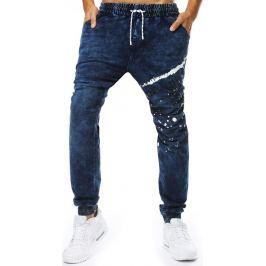 BASIC Denim jogger kalhoty s kaňkami (ux2075) Velikost: M