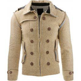 BASIC Pánská béžová bunda (tx1226) velikost: S, odstíny barev: béžová