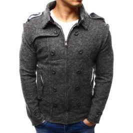 BASIC Pánská antracitová bunda (tx1227) velikost: S, odstíny barev: šedá
