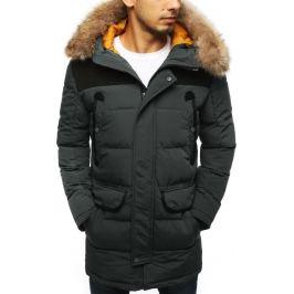 BASIC Pánská prošívaná zimní bunda - šedá (tx2903) Velikost: M