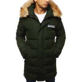 BASIC Pánská prošívaná zimní bunda  - zelená (tx2917) Velikost: S