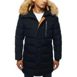 BASIC Pánská prošívaná zimní bunda - modrá (tx2925) Velikost: S