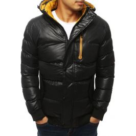 BASIC Černá prošívaná bunda s kapucí (tx2931) Velikost: S
