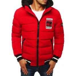 BASIC Červená pánská zimní bunda (tx2945) Velikost: S