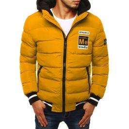 BASIC Žlutá pánská zimní bunda (tx2946) Velikost: S