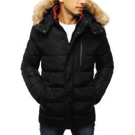 BASIC Pánská zimní prošívaná bunda s kapucí černá (tx2953) Velikost: S