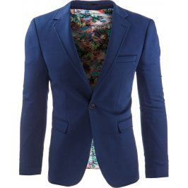 BASIC Pánské modré sako (mx0233) velikost: S, odstíny barev: modrá