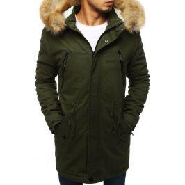 BASIC Pánská zimní bunda s kapucí khaki (tx2893) Velikost: M