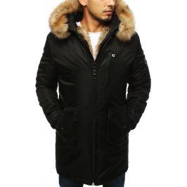 BASIC Pánská zimní bunda s kapucí -  černá (tx2959) Velikost: S