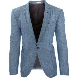 BASIC Pánské modré sako (mx0238) velikost: S, odstíny barev: modrá