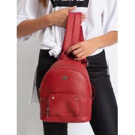BASIC Červený dámský batoh 3939 BRIGHT RED Velikost: univerzální