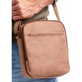 ALWAYS WILD Malá kožená taška 8021-TGH L.BROWN Velikost: univerzální