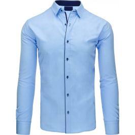 BASIC Pánská modrá košile (dx1107) Velikost: XL