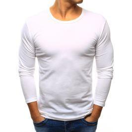 BASIC Pánské bílé tričko přes hlavu (lx0421) velikost: S, odstíny barev: bílá