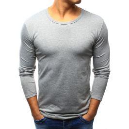 BASIC Pánské šedé tričko přes hlavu (lx0422) velikost: S, odstíny barev: šedá