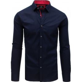 BASIC Granátově modrá košile s drobným vzorem (dx1760) Velikost: M
