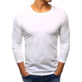 BASIC Pánské bílé tričko (lx0415) velikost: S, odstíny barev: bílá