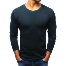 BASIC Pánská modré tričko (lx0416) velikost: S, odstíny barev: modrá