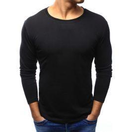 BASIC Pánské černé tričko (lx0417) velikost: S, odstíny barev: černá