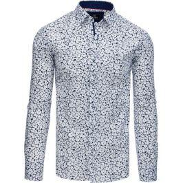 BASIC Bílá vzorovaná košile (dx1768) Velikost: M