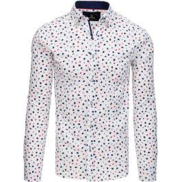 BASIC Bílá košile se vzorem (dx1770) Velikost: M