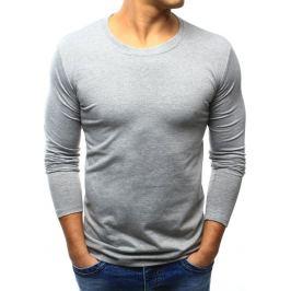 BASIC Pánská šedé tričko (lx0418) velikost: S, odstíny barev: šedá