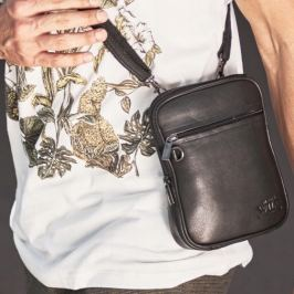 Always Wild kožená černá taška 1113-NDM BLACK Velikost: univerzální