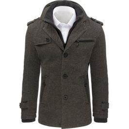 BASIC Šedý zimní kabát (cx0402) Velikost: L
