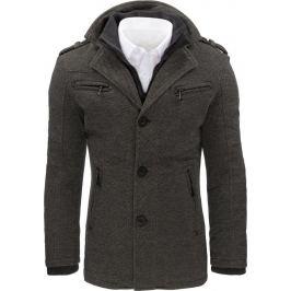 BASIC Šedý zimní kabát (cx0403) Velikost: M