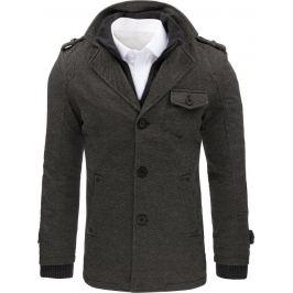 BASIC Šedý kabát s kapsičkou (cx0404) Velikost: M