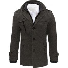 BASIC Pánský šedý zimní kabát (cx0405) Velikost: L