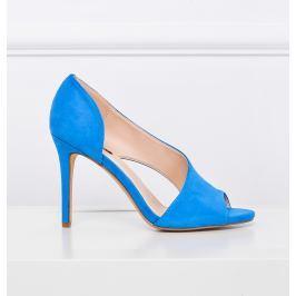 Semišové modré sandály C70P velikost: 35, odstíny barev: modrá