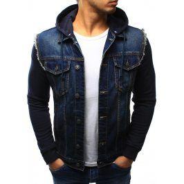 BASIC Jarní/podzimní džínová bunda  (tx1260) velikost: S, odstíny barev: modrá