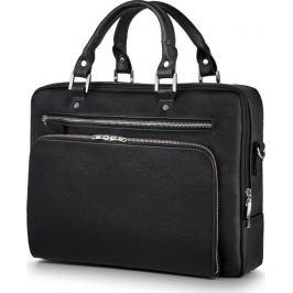 SOLIER Luxusní kožená taška na notebook (SL24 BLACK) Velikost: univerzální